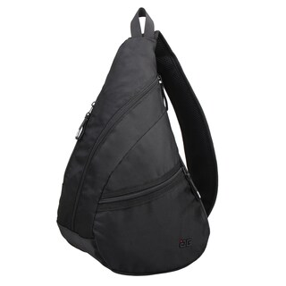 AfterGen Kenny Black Polyester Crossbody Sling Backpack