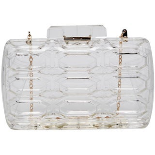 Pink Haley Freya Transparent Hard Case Clutch