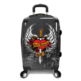 Bret Michaels Distressed Tattoo 22-inch Expandable Carry-on Hardside Spinner Suitcase