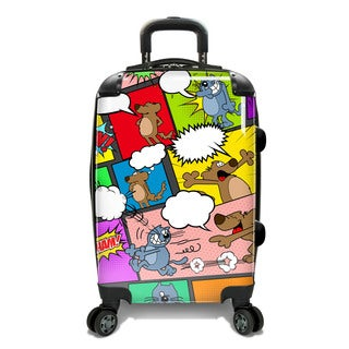 Traveler's Choice 22-inch Comics Expandable Hardside Carry-On Spinner Suitcase
