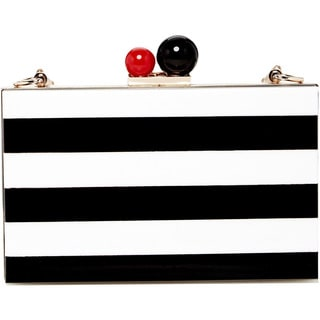 Pink Haley Lola Black and White Clutch
