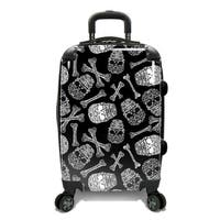 Traveler's Choice Skulls 22-inch Expandable Hardside Carry-on Spinner Suitcase
