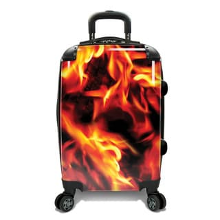 Loudmouth 22-inch Liar Liar Expandable Hardside Carry-On Spinner Suitcase