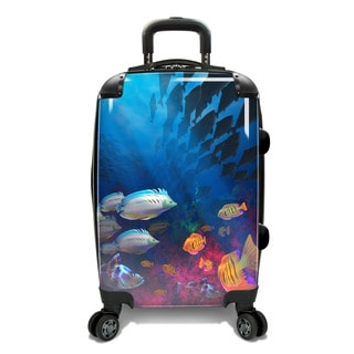 Traveler's Choice 22-inch Undersea Expandable Hardside Carry-On Spinner Suitcase