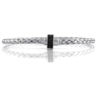 Magnetic Weave Braclet with Black Diamonds (I2-I3)