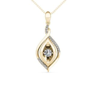 De Couer 10K Yellow Gold 1/4ct TDW Dancing Diamond Necklace (H-I, I2)