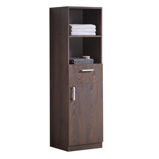Infurniture Brown Elm-finish Wood 71-inch Side Cabinet