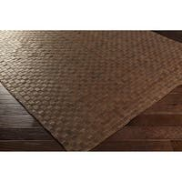 Hand-Woven Burslem Leather Area Rug (4' x 6')