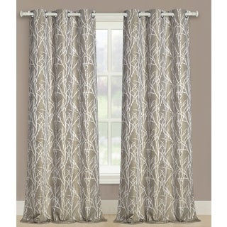 Luxury Collection Taylor Woven Grommet Curtain Panel Pairs Long Length 95-inch