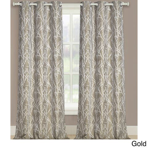 """Luxury Collection Taylor Light-Filtering Curtain Panel Pair - 38"""" w x 95"""" l - 38"""" w x 95"""" l"""