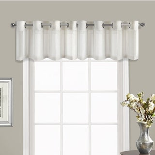 Luxury Collection Venetian Crushed Voile Coordinating Grommet-top Curtain Valance