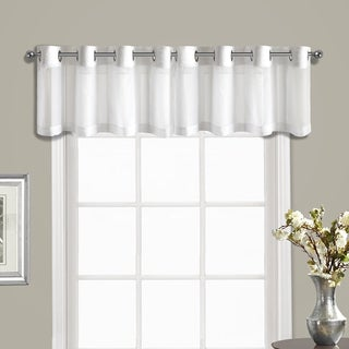 Venetian Crushed Voile Coordinating Grommet-top Curtain Valance