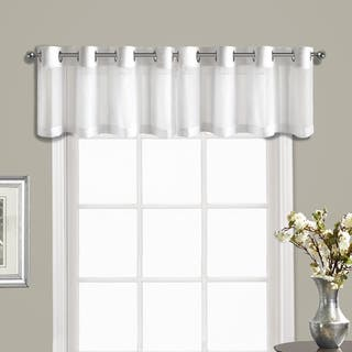 Luxury Collection Venetian Crushed Voile Coordinating Grommet Top Curtain Valance