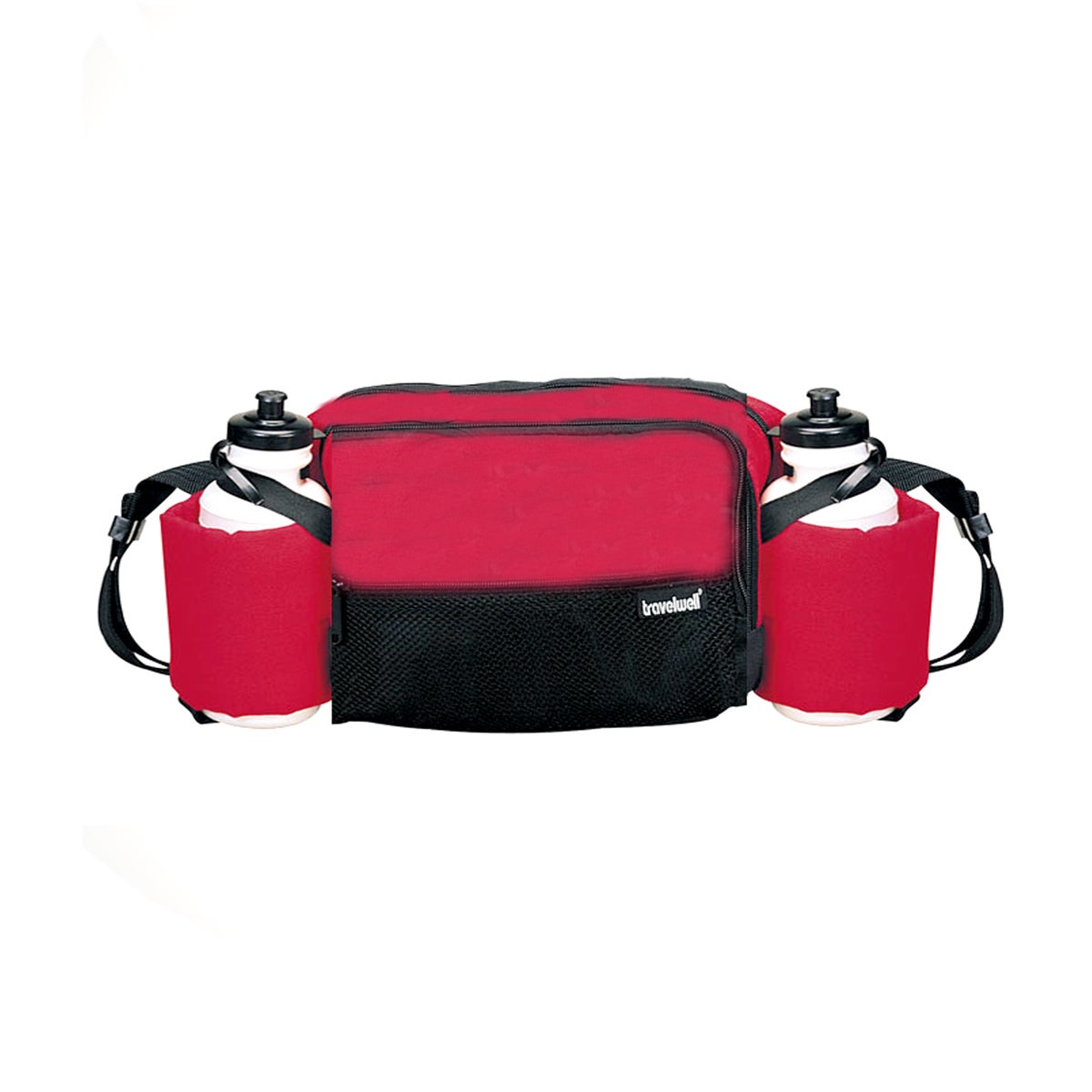 GOOD HOPE BAGS Red Polyester Waist Pack with Water Bottle...
