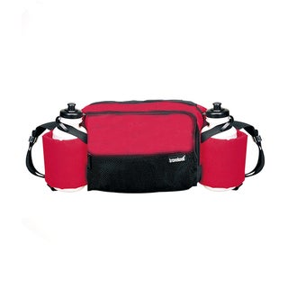 Goodhope Red Polyester Waist Pack with Water Bottles