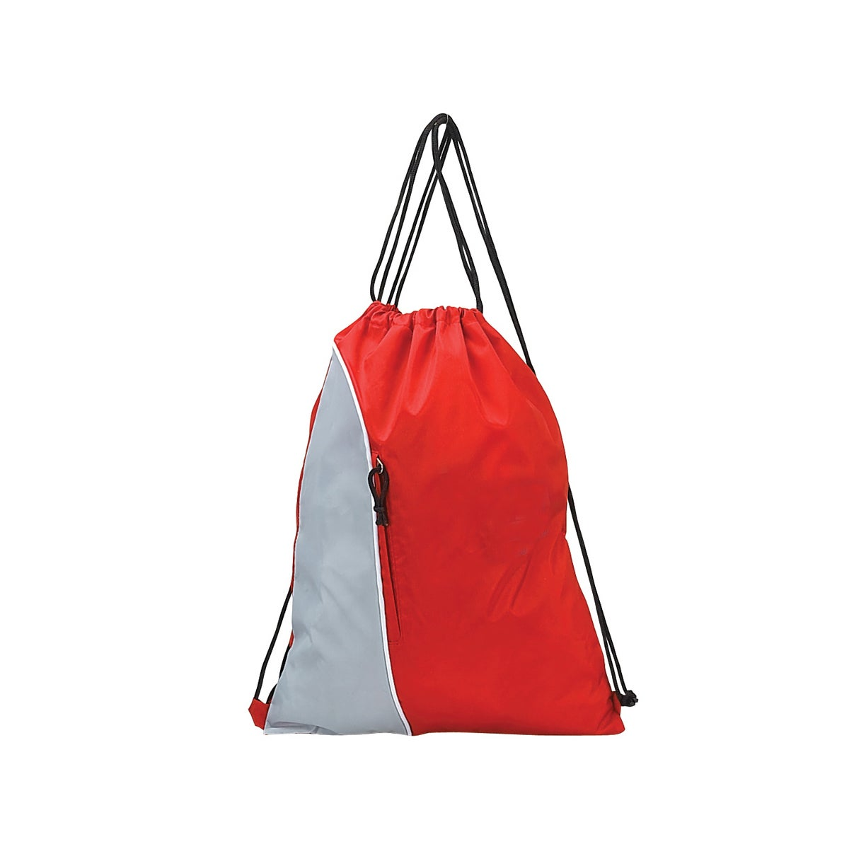 GOOD HOPE BAGS Multicolore Nylon Drawstring Pack (Red)