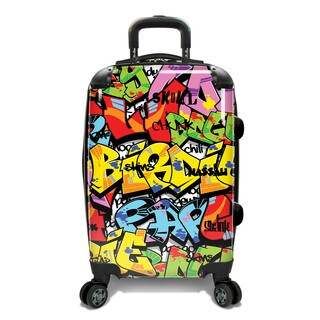 Loudmouth 22-inch Tags Expandable Hardside Carry-On Spinner Suitcase