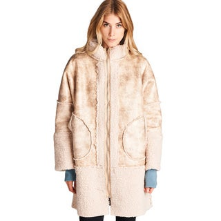Spicy Mix Myah Faux Fur Zippered Front Pocket Coat