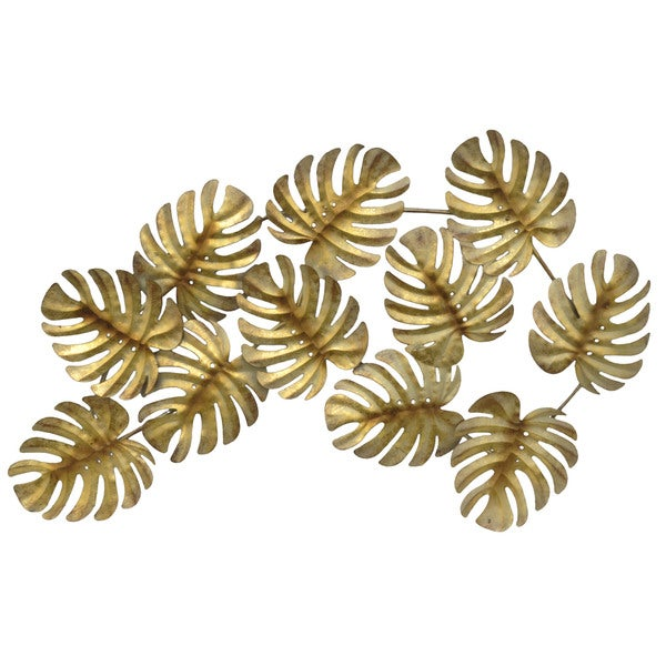 Three Hands Gold Leaves Metal Wall Art