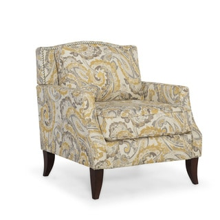 Homeware Austen Buttercup Wood and Linen Arm Chair