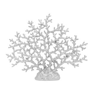 Three Hands Silver Resin Coral Tabletop Decor