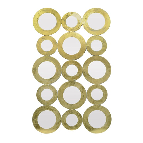 Shop Three Hands Gold Metal-framed Mirror Circle Clusters