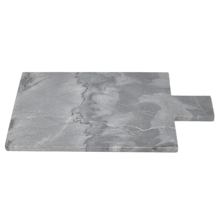 Three Hands Black Marble Cutting Board With Handle