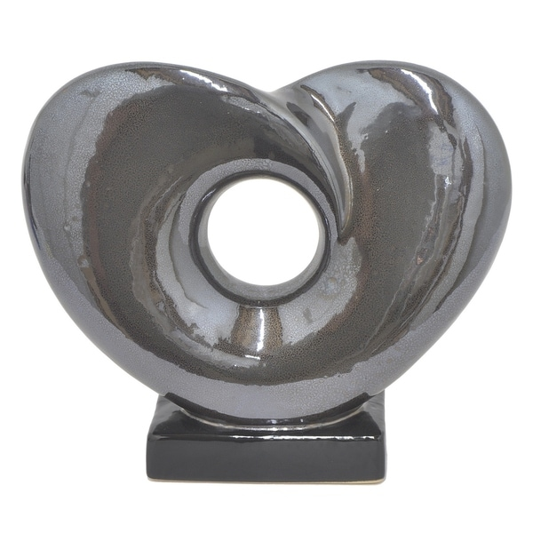 Shop Three Hands Decorative Gray Ceramic Table Top Art Sculpture ...
