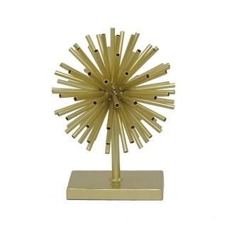 Three Hands Decorative Urchin W/Base - Gold