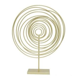 Three Hands Decorative Spiral W/Base - Gold