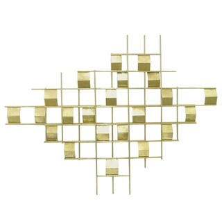 Three Hands Gold-tone Metal Wall Art