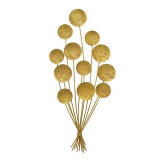Three Hands Balloon Gold Metal Wall Decoration