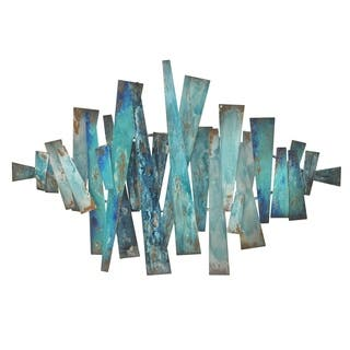 Three Hands Blue Abstract Metal Slats Wall Art|https://ak1.ostkcdn.com/images/products/12850150/P19613787.jpg?impolicy=medium