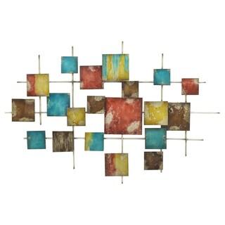 Three Hands 82134 Multicolor Geometric Metal Wall Decoration