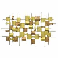 Three Hands Geometric Goldtone Metal Wall Decoration
