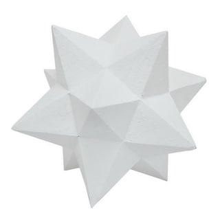 Three Hands Star Orb Table Top Decor - White