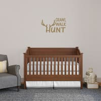 'Crawl Walk Hunt' 24-inch Wide Wall Decal