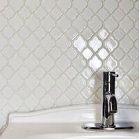 SomerTile 10.5x10.5-inch Marsa White Ceramic Mosaic Floor and Wall Tile (10 tiles/7.7 sqft.)