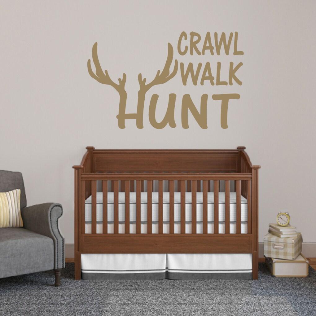 Crawl Walk Hunt Wall Decal - 48  wide x 30  tall