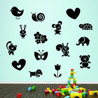 Cute Creatures Pack Wall Decals