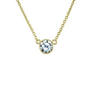 Antwerp's 14k Gold 2/5ct TDW Diamond 'Wonder' Necklace (G-H, SI1-SI2)