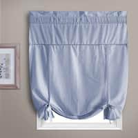'Dorothy' Dobby Dot Rod Pocket Curtain Topper Tie Up Shade - L