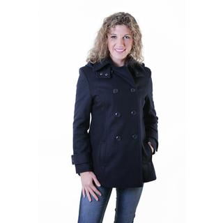 Double-breasted Hooded Trenchcoat