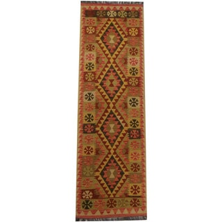 Herat Oriental Afghan Hand-woven Tribal Kilim (2'2 x 7'2)