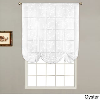Luxury Collection Savannah Linen-look 40-inch x 63-inch Dry Hand Luxury Tie-up Shade Semi-sheer Curtain Topp
