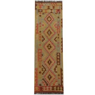 Herat Oriental Afghan Hand-woven Tribal Kilim (2' x 6'8)