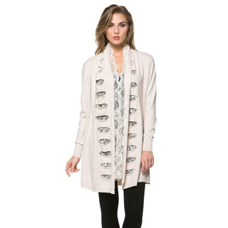 High Secret Women's Solid-color Open-front Cardigan
