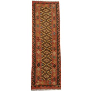 Herat Oriental Afghan Hand-woven Tribal Kilim (2'2 x 6'5)