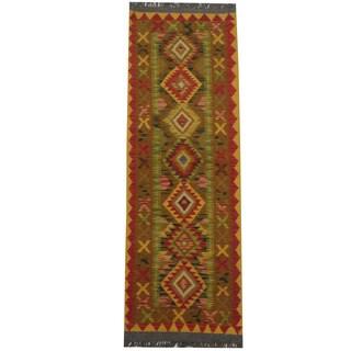 Herat Oriental Afghan Hand-woven Tribal Kilim (2' x 6'1)