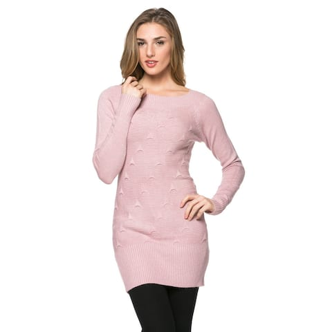 High Secret Women's Solid-colored Knit Tunic Top